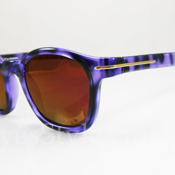 Sunjet by Carrera, 5272, EUC, Wayfarer, Vintage Sunglasses, Vintage Sunglass, Hipster, Purple, Tortoise, Mirrored Orange Lenses, Sunglasses