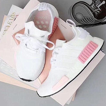 """Adidas"" Women Fashion Trending Running Sports Shoes Sneakers White Pink"