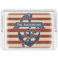 American Flag Nautical Anchor Stars and Stripes Igloo Ice Chest