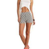 Ivory Mock Neck Extreme High-Low Top by Charlotte Russe