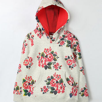 Gray Floral Hood Sweatshirt - Infant & Toddler