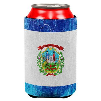 West Virginia Vintage Distressed State Flag All Over Can Cooler