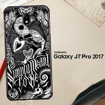 Jack And Sally Muertitos The Nightmare Before Christmas F0874 Samsung Galaxy J7 Pro SM J730 Case