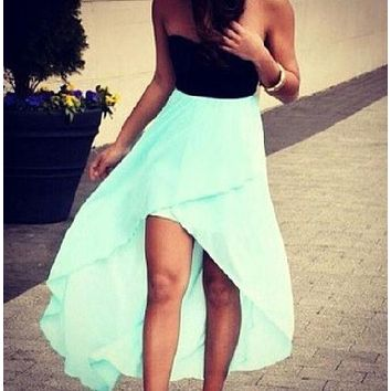 DCCKJ1A HOT STRAPLESS MINT GREEN HOMCOMING DRESS HIGH QUALITY