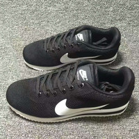 """""""NIKE"""" Cortez Forrest gump Casual Running Sport Shoes Sneakers knit Black white hook"""
