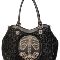 Flocked Ribcage Cameo Handbag
