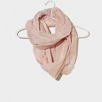 AEO Metallic Paisley Loop Scarf   American Eagle Outfitters