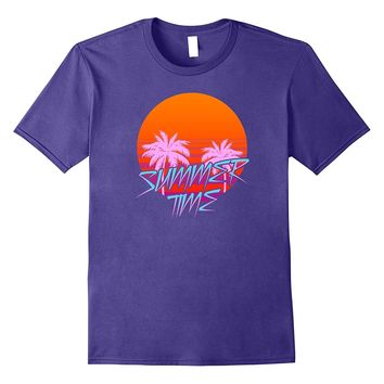 Retro Summer Time T-shirt- Vaporwave Futurism Inspired