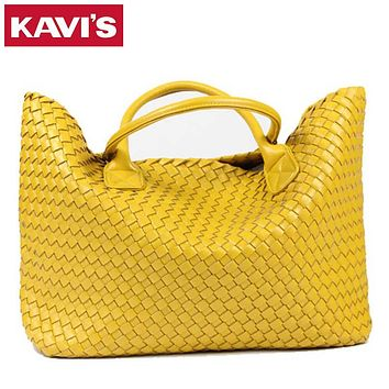 2016 NEW Fashion Famous Brand PU Leather Woven Shoulder Bags For Office Hand Bag Women High Quality Designer Purses And Handbags