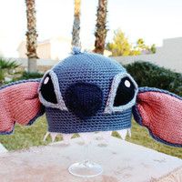 Stitch -ish Hat: Super Cute Disney Lilo & Stitch Alien Crochet Beanie Hat