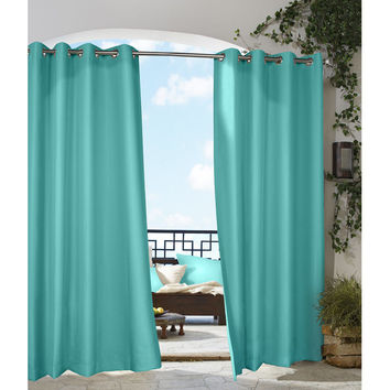 SAVE Outdoor Décor Solid Grommet Gazebo Top Curtain Panel