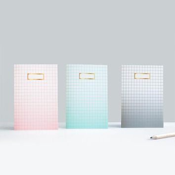 Ombre Grid Notebook x 3