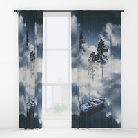 Forest sailing Window Curtains by happymelvin