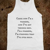 Warrior- Demi Lovato tank top
