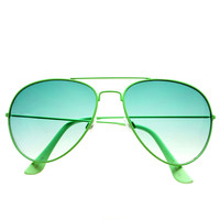 Colorful Metal Retro Fashion Style Aviator Sunglasses A1730