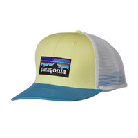Patagonia P-6 Logo Trucker Hat- Lite Blazing Yellow