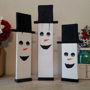 Reversible Scarecrows and Snowmen - Scarecrow and Snowman Decor - Fall and Christmas Decorations - Reversible Fall and Christmas Decorations