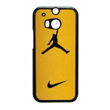 VONR3I Nike Air Jordan Golden Gold HTC One M8 Case
