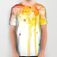 Watercolor Rainbow All Over Print Shirt by Olechka