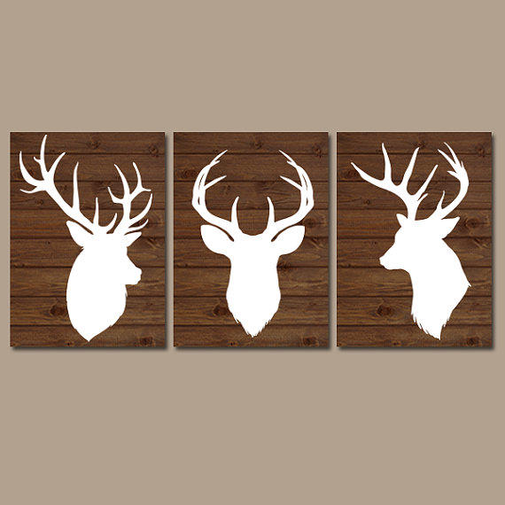 DEER Wall Art CANVAS Or Prints Country From TRM Design
