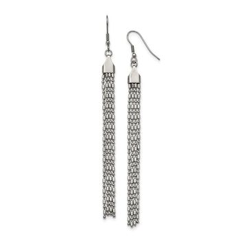 Stainless Steel Long Dangle Earrings