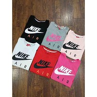 """Nike""Hot letters print T-shirt top(6-Color) I-G-JGYF"