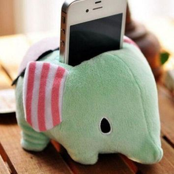 Elephant Plush Doll Mobile Phone Holder Home Office Day-First™