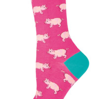 Socksmith This Little Piggy Pink Socks