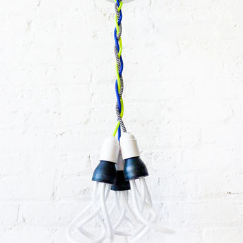 Chandelier Hanging Light - DIY Custom Request Lighting Design Guide - Color Cord Textile Canopy Pendant Lamp - Unique Home Decor - ESW2