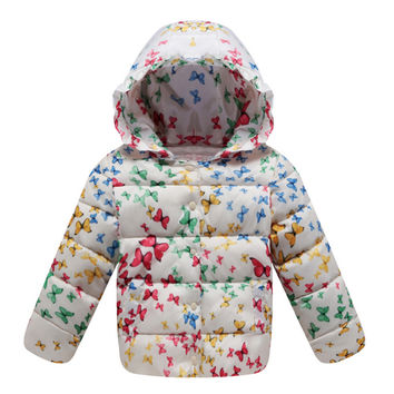 Child Down Coat Middle Long Thick Girl Coat Winter   white   100cm
