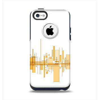 The Abstract Yellow Skyline View Apple iPhone 5c Otterbox Commuter Case Skin Set