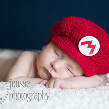 Heads and Toes Baby Mario Style Cap