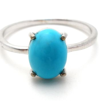 Turquoise Sterling Silver Ring Size 9