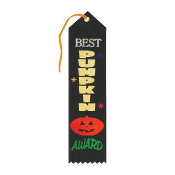 "Beistle Halloween Celebration Birthday Party Best Pumpkin Award Ribbon 2"""" x 8"""" Pack of 6"