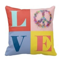 Peace and Love | Pop | Modern Pillows