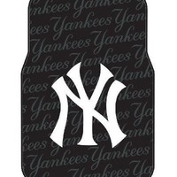 MLB New York Yankees Two-Pack Front Car Floor Mat