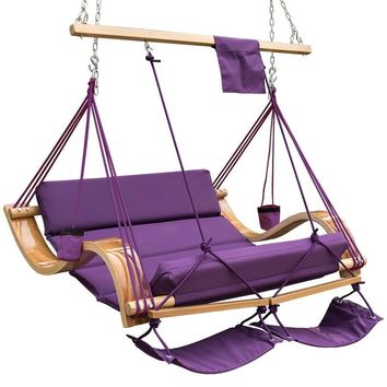 Two Person Deluxe Hanging Hammock Lounger
