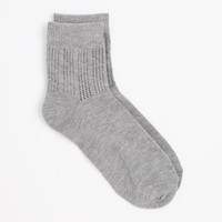 Gray Pointelle Anklet Socks | Socks | rue21