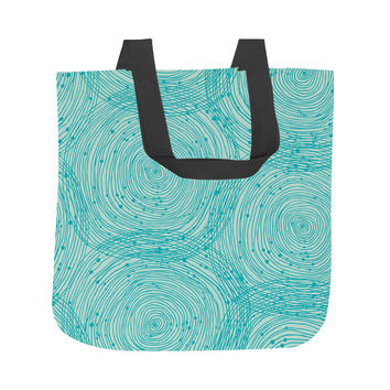 Turquoise Spirals Tote Bag