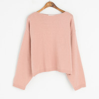 Lip Neck Spring Jumper, Pink