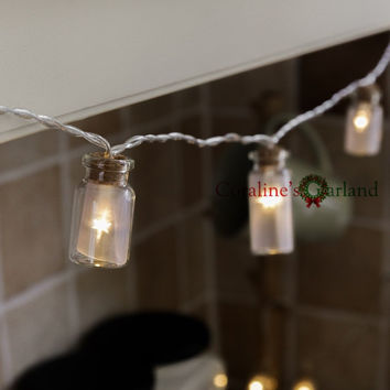 Novelty Glass Jar LED String Lights with 20 LED Lights Battery operated for Wedding Party Fairy Lights Christmas Decoration