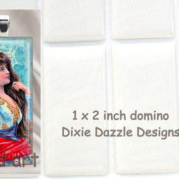 Reserved 200 domino seals 1x2 inch (25x50mm) DOMINO size clear epoxy stickers, domed cover cabochon for pendant jewelry