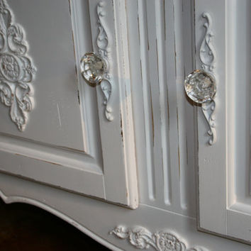 1 Furniture applique / back plate / backplate / onlay / chic furniture / cottage furniture / french furniture