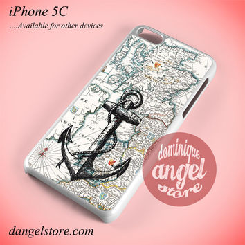 Nautica Map And Anchor Phone case for iPhone 5C and another iPhone devices