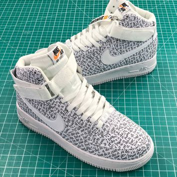 Just Do It Nike Air Force 1 High Lx White Sport Shoes - Best Online Sale