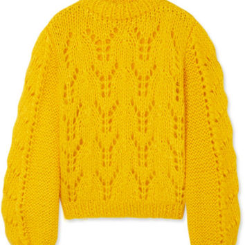 GANNI - Julliard mohair and wool-blend sweater