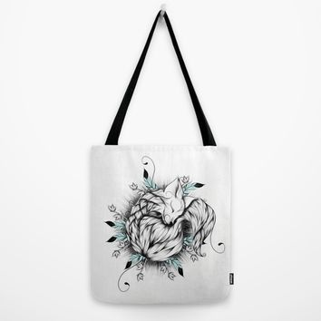 Little Fox Tote Bag by LouJah | Society6