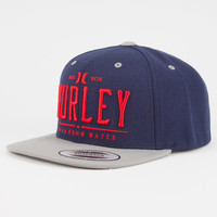 Hurley All Day Mens Snapback Hat Dark Blue