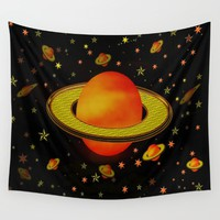 Outer Harvest Moons Wall Tapestry by Deluxephotos