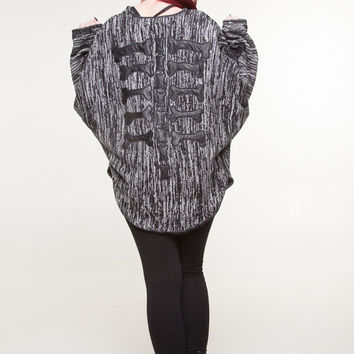 Back Boned Cape Cardigan by Evil Twin